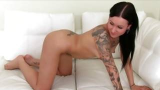 Amazing tattooed kinky porn star is drilled hardcore