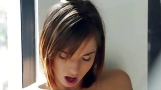 Pretty gf is groaning while solo pleasuring